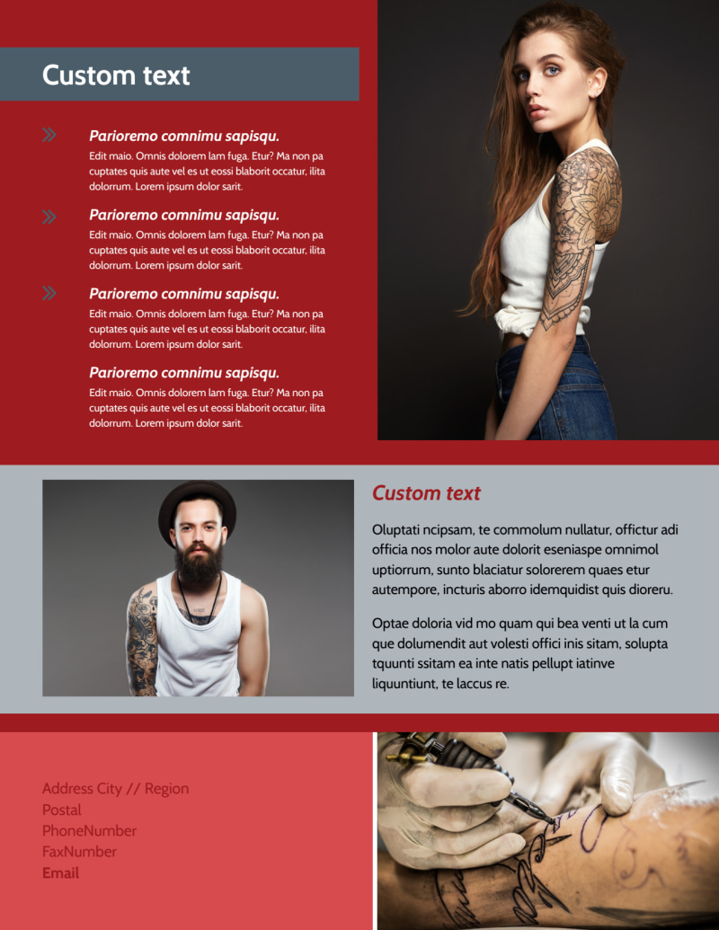 Tattoo Shop Flyer Template Preview 3