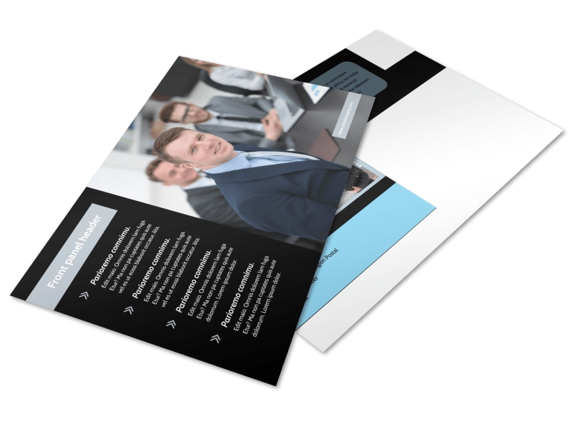 Portfolio Management Postcard Template