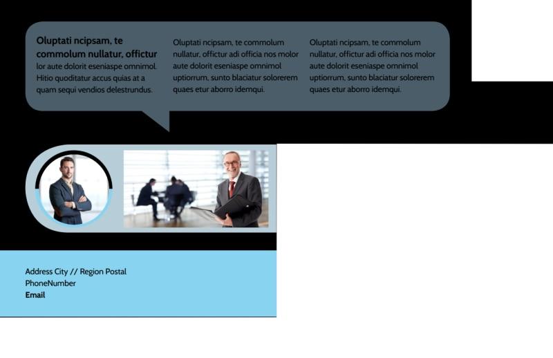 Portfolio Management Postcard Template Preview 3