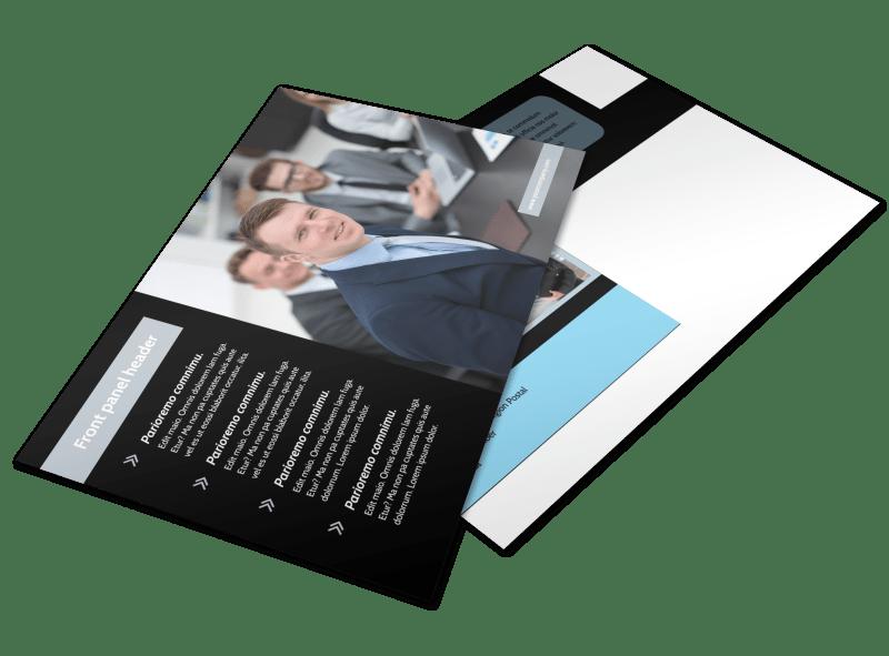 Portfolio Management Postcard Template Preview 1