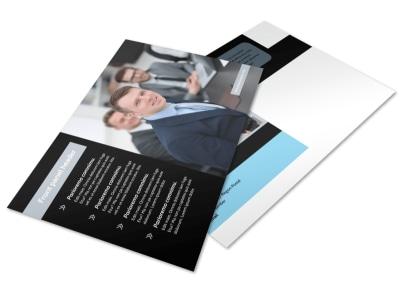 Portfolio Management Postcard Template preview