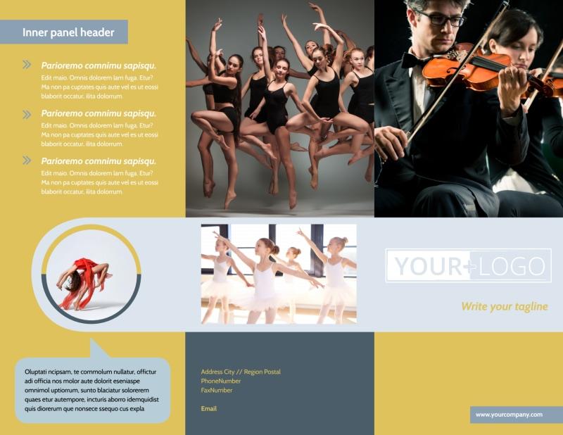 Performing Arts School Brochure Template Preview 2