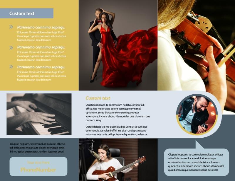 Performing Arts School Brochure Template Preview 3