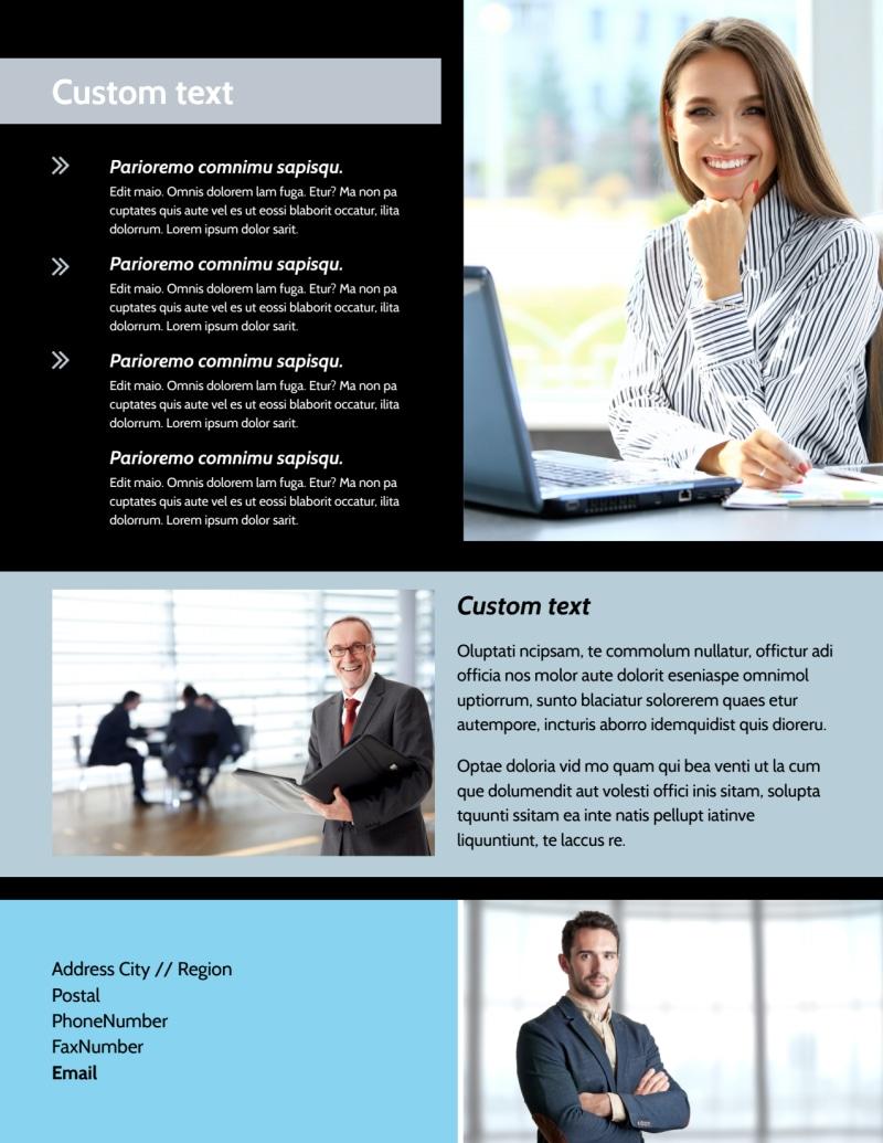 Portfolio Management Flyer Template Preview 3