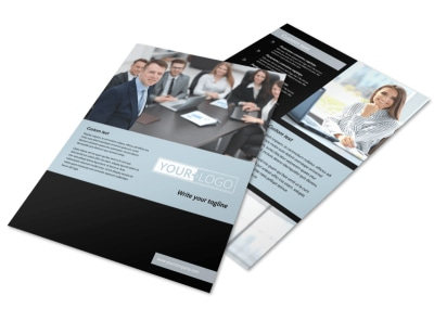 Portfolio Management Flyer Template preview