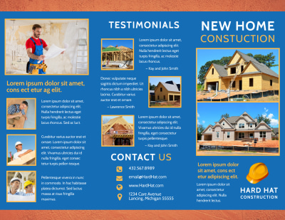 Home Building Contractor Brochure Template Preview 1
