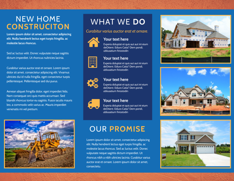 Home Building Contractor Brochure Template Preview 3