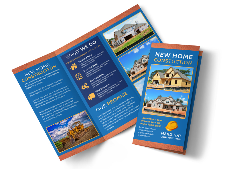 Home Building Contractor Brochure Template MyCreativeShop - Construction brochure templates