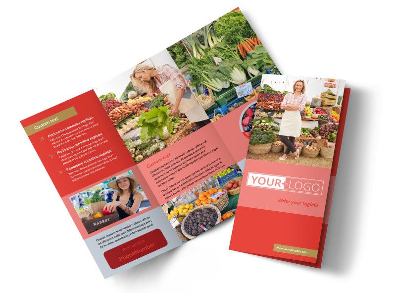 Local Farmers Market Brochure Template Preview 4
