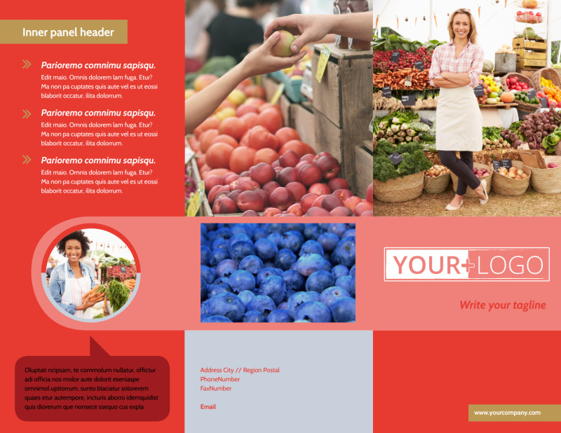 Local Farmers Market Brochure Template Preview 2