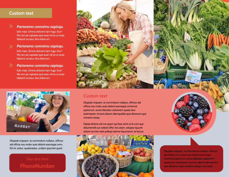 Local Farmers Market Brochure Template Preview 3