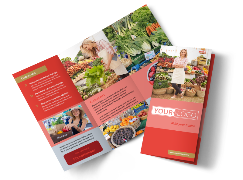 Local Farmers Market Brochure Template Preview 1