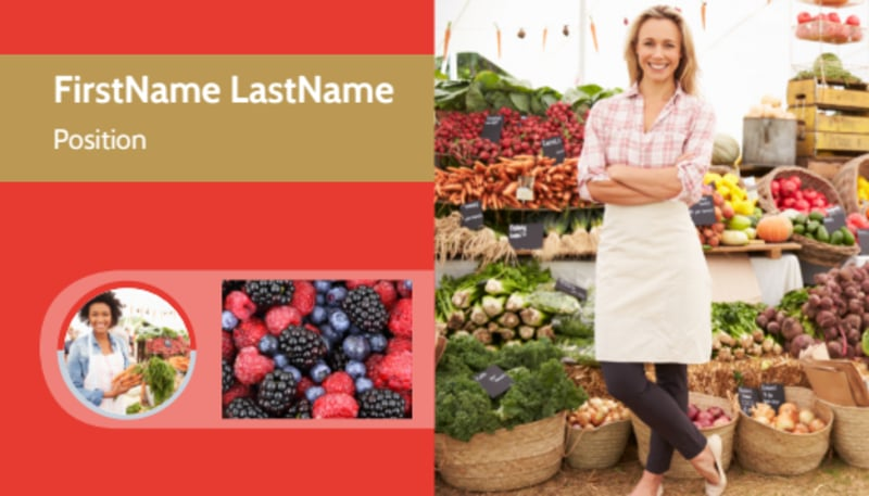 Local Farmers Market Business Card Template Preview 2