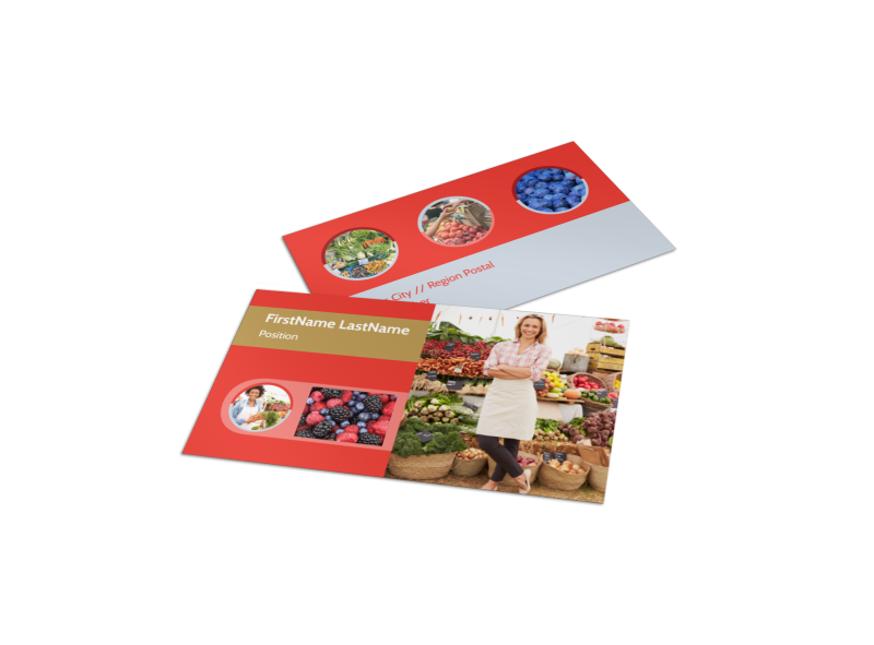 Local Farmers Market Business Card Template Preview 1