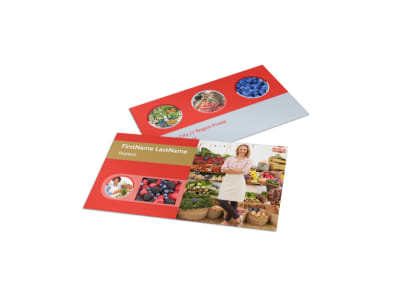 Local Farmers Market Business Card Template preview