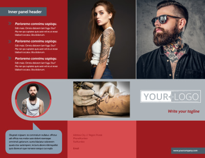 Tattoo Shop Brochure Template Preview 1
