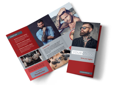 Tattoo Shop Tri-Fold Brochure Template