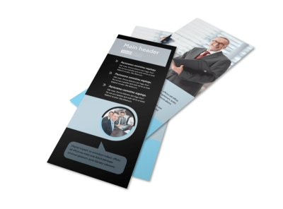 Portfolio Management Flyer Template 2