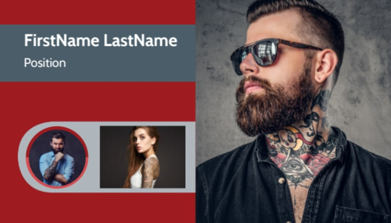 Tattoo Shop Business Card Template Preview 2