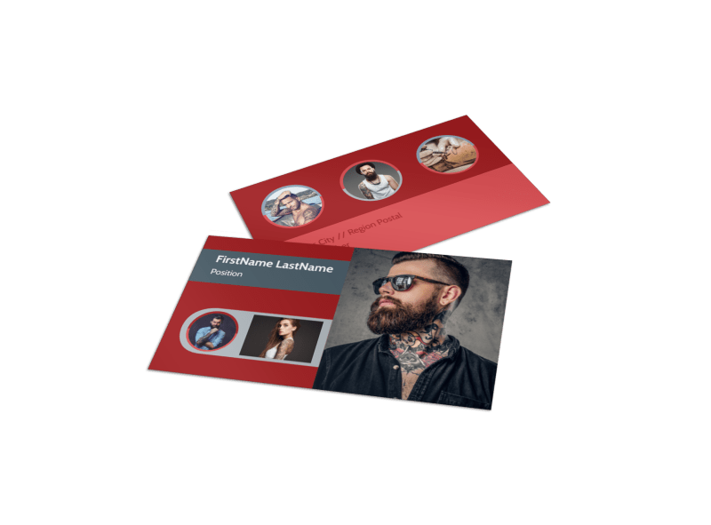 Tattoo Shop Business Card Template Preview 1