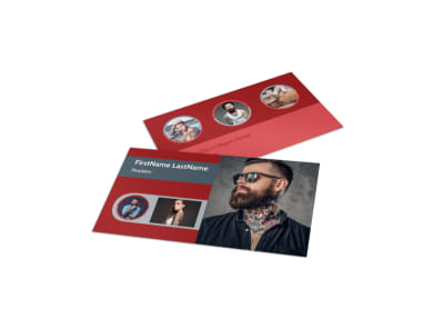 Tattoo Shop Business Card Template preview