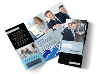 Portfolio Management Tri-Fold Brochure Template preview