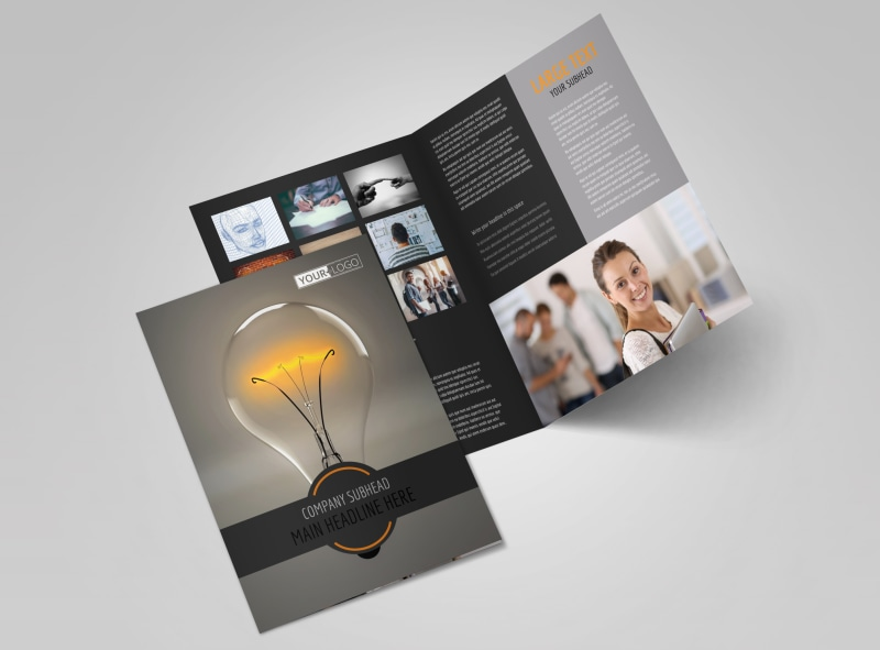 Invention Camp Bi-Fold Brochure Template 2