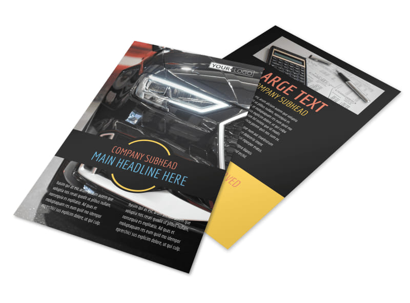 Auto Finance Flyer Template 3