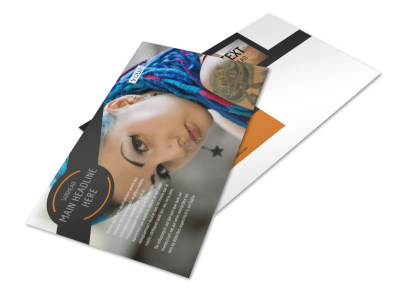 Tattoo & Body Piercing Parlor Postcard Template 2 preview
