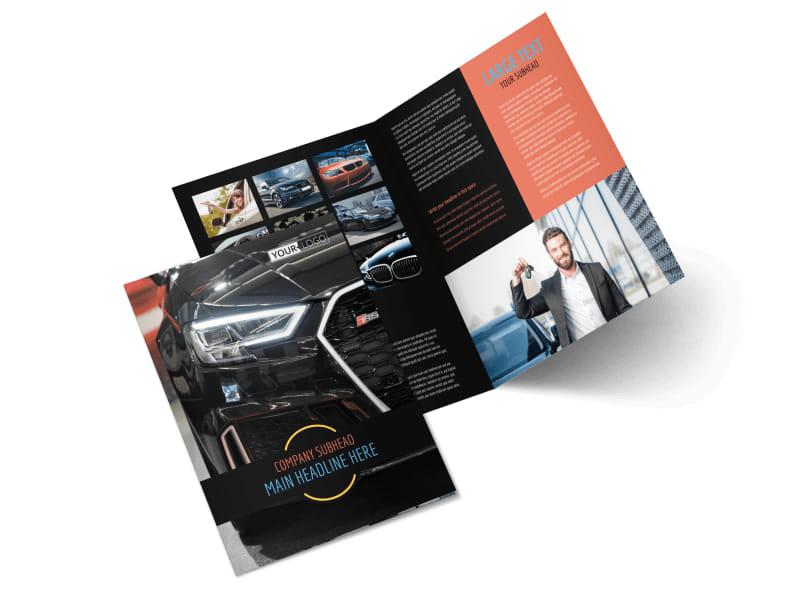 Auto Finance Bi-Fold Brochure Template 2