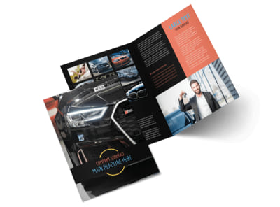 Auto Finance Bi-Fold Brochure Template 2