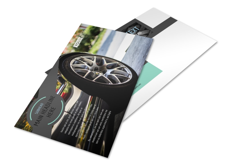 Tire Store Postcard Template 2