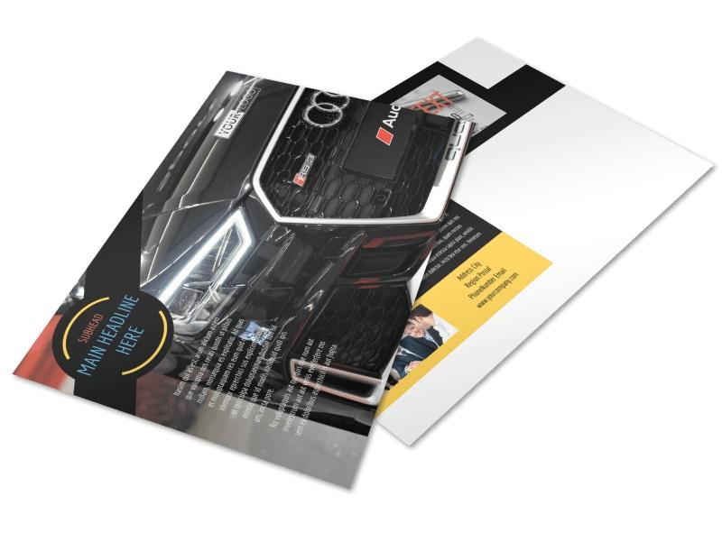 Auto Finance Postcard Template