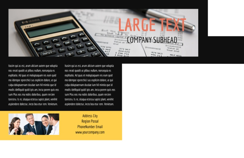 Auto Finance Postcard Template Preview 3