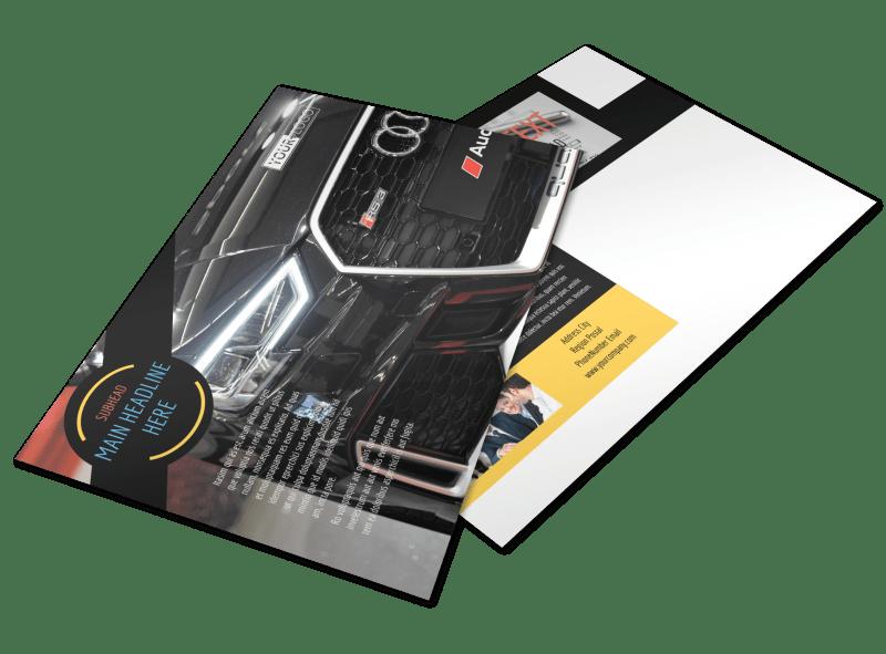 Auto Finance Postcard Template Preview 1