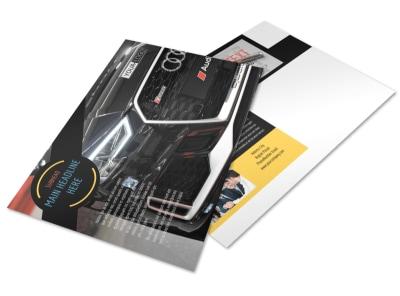 Auto Finance Postcard Template preview