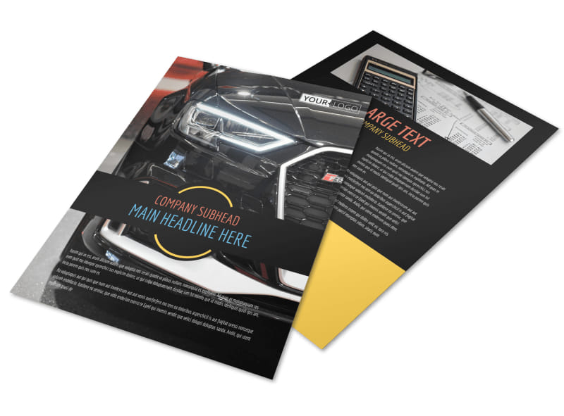 Auto Finance Flyer Template Preview 4