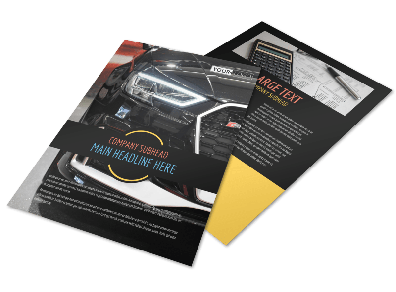 Auto Finance Flyer Template Preview 1