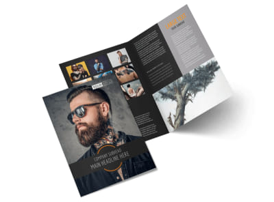 Tattoo & Body Piercing Parlor Bi-Fold Brochure Template 2 preview