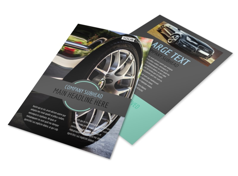 tire store flyer template mycreativeshop