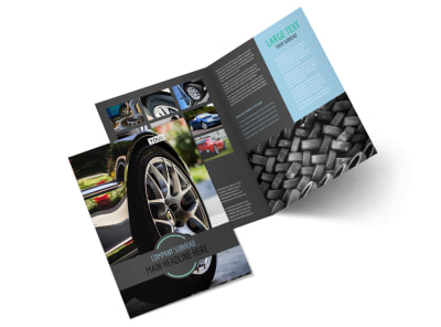 Tire Store Bi-Fold Brochure Template 2