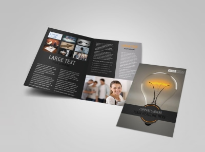 Invention Camp Bi-Fold Brochure Template