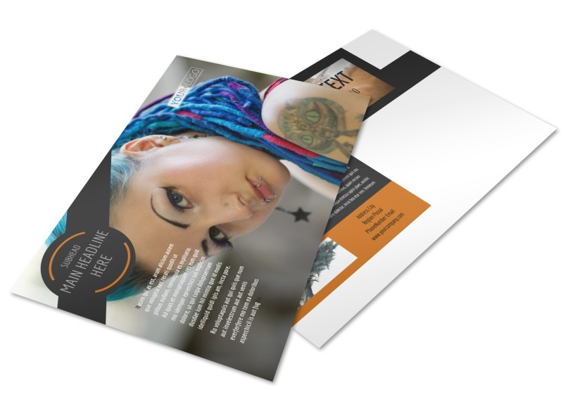 Tattoo & Body Piercing Parlor Postcard Template Preview 4