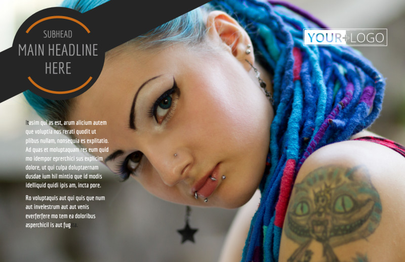 Tattoo & Body Piercing Parlor Postcard Template Preview 2