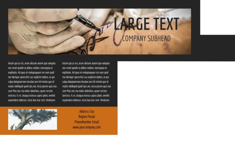 Tattoo & Body Piercing Parlor Postcard Template Preview 3