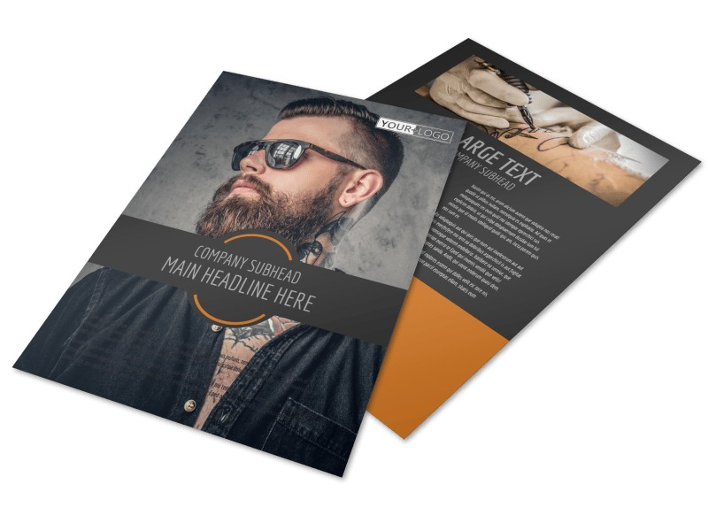 Tattoo & Body Piercing Parlor Flyer Template Preview 4