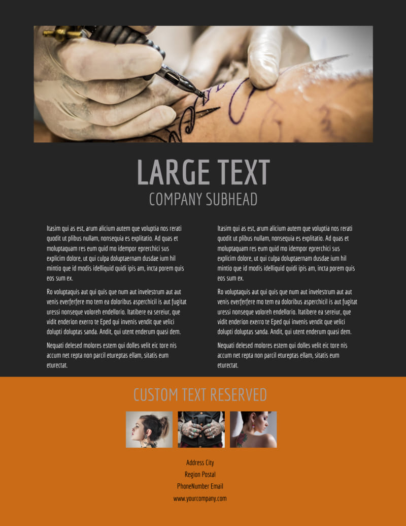 Tattoo & Body Piercing Parlor Flyer Template Preview 3