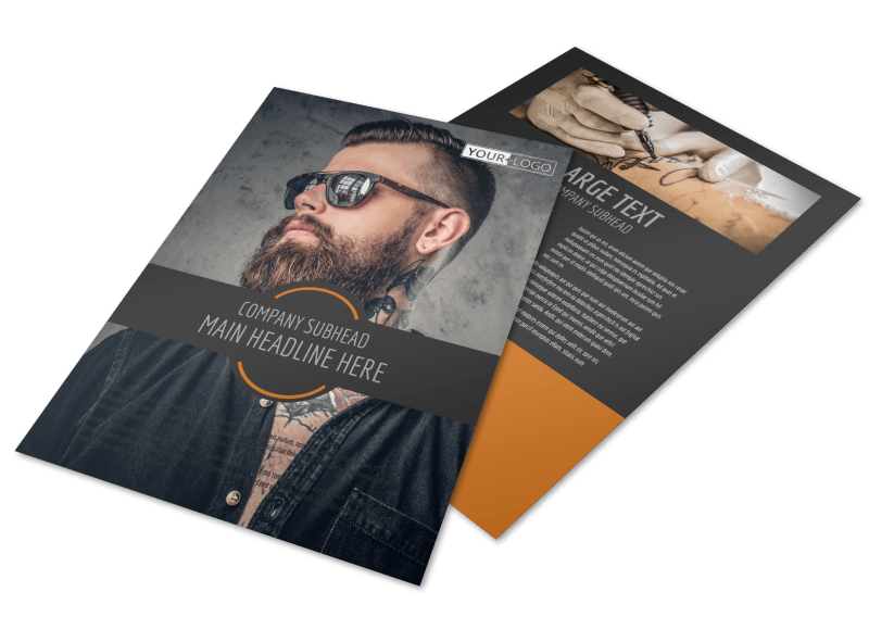 Tattoo & Body Piercing Parlor Flyer Template Preview 1