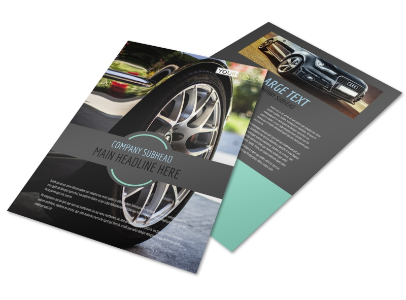 Tire Store Flyer Template Preview 4