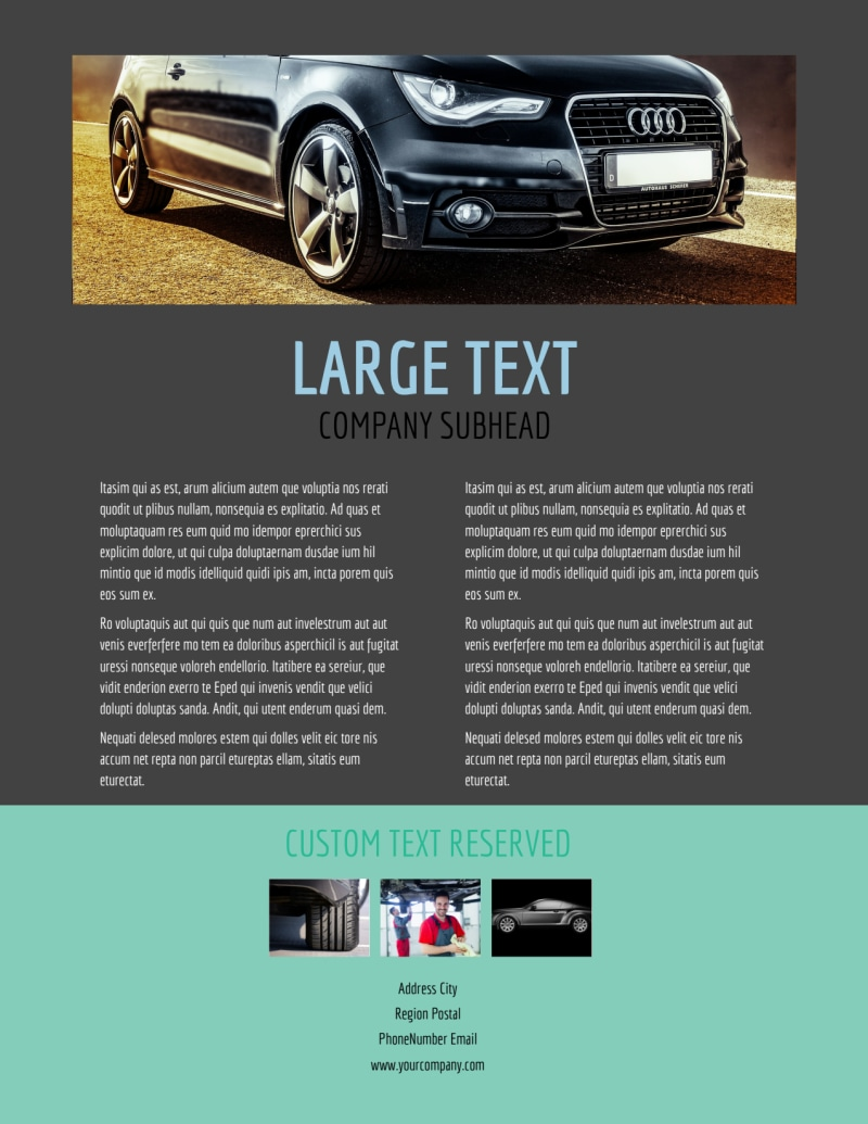 Tire Store Flyer Template Preview 3